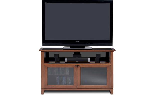 BDI Novia Series 8426 Natural Cherry - drawer open (TV, components and speakers not included)