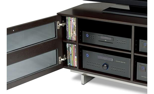 BDI Avion 8925 Series II Espresso - interior detail (TV, components, and media not included)