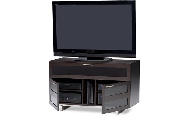 BDI Avion 8928 Series II Espresso - lower compartments detail (TV and components not included)