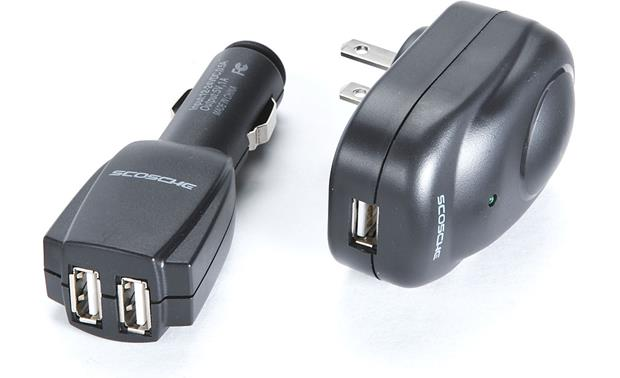 Scosche USB Home/Car Charger Kit Front