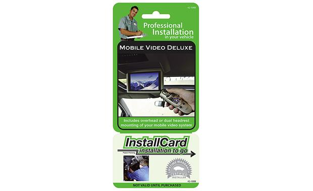 InstallCard: Headrest Video Front