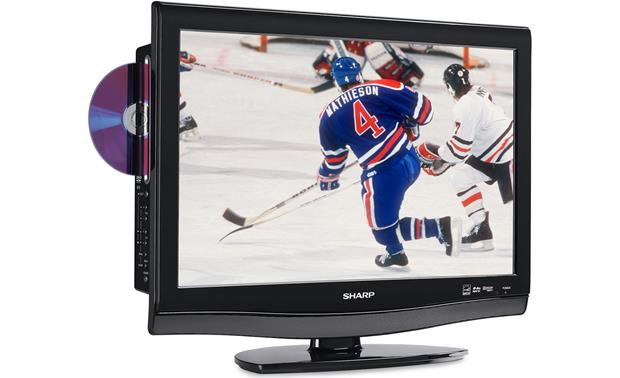 Sharp Lc 22dv27ut 22 720p Lcd Hdtv With Built In Dvd Player At