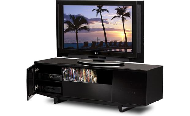 BDI Marina 8729-2 Gloss Black (TV and components, and media not included)