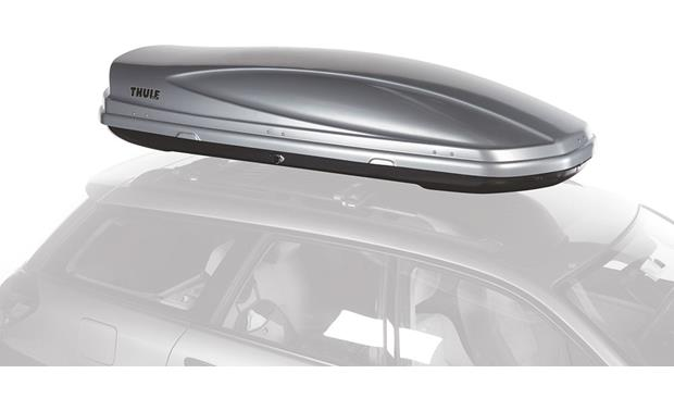 Thule Atlantis 1800 Cargo Carrier Silver Holds Up To 18 Cubic Feet Of Cargo At Crutchfield