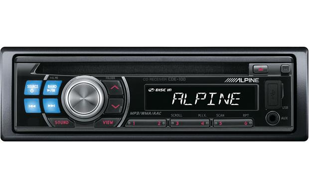 alpine cde 100 cd receiver at crutchfield com rh crutchfield com Alpine Radio Alpine Car