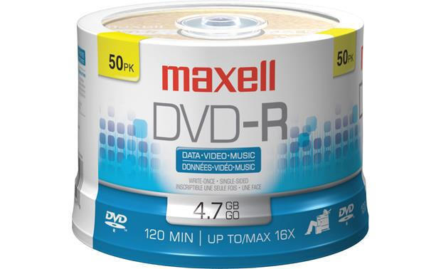 Maxell Recordable DVD-R Disc Front