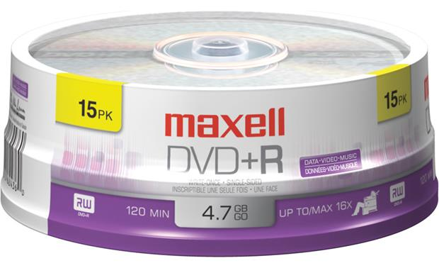 Maxell Recordable DVD+R Disc Front