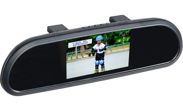 Boyo Vtb42m Clip On Replacement Mirror With 4 2 Quot Lcd