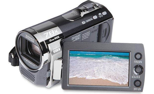 Panasonic sdr-t50k standard-definition camcorder with 78x optical.