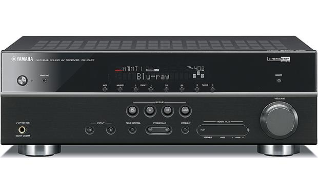 yamaha rx-v467 home theater receiver with 3d-ready hdmi switching