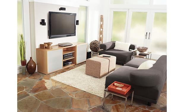 BoseR LifestyleR T20 Home Theater System Living Room Setup