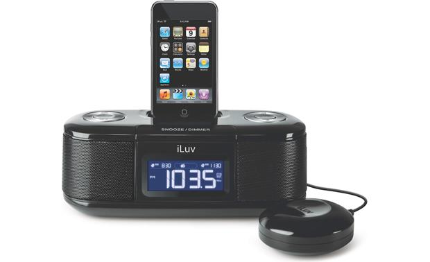 iluv imm153 vibe clock radio with built in ipod iphone dock and rh crutchfield com iLuv Bed Shaker Alarm Clock iLuv iMM183