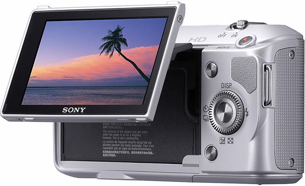 Sony NEX-3K Screen tilted up (silver)