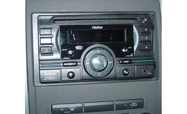 Metra 99-7428B Dash Kit Gray version installed with double-DIN radio (not included)