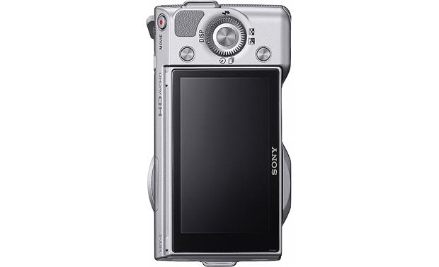 Sony NEX-5A Back, vertical (silver)