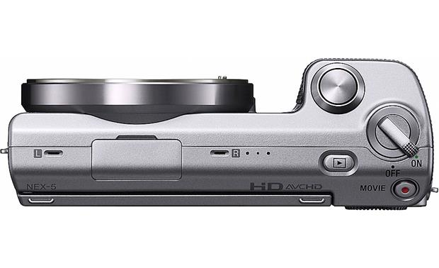 Sony NEX-5A Top, lens removed (silver)