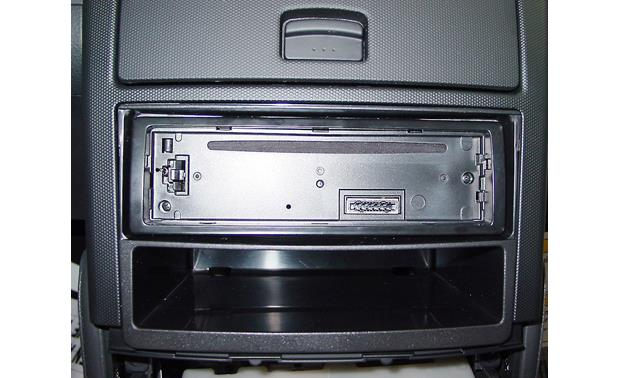 Metra 99-7602 Dash Kit Kit installed with single-DIN radio (not included)