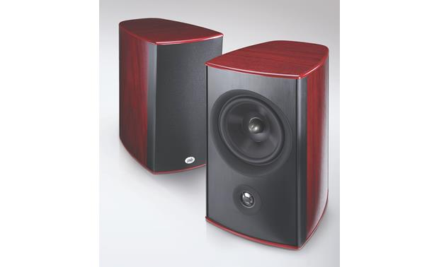 PSB Synchrony One B Dark Cherry pair - one shown with grille off