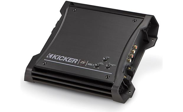 kicker zx mono subwoofer amplifier watts rms x at  kicker 10zx400 1 front