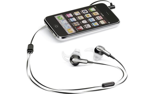 Bose® MIE2 mobile headset Connected to an iPhone®