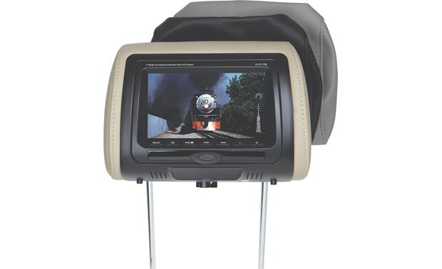 concept cld 700 universal headrest built in 7 monitor and dvd concept cld 700 front