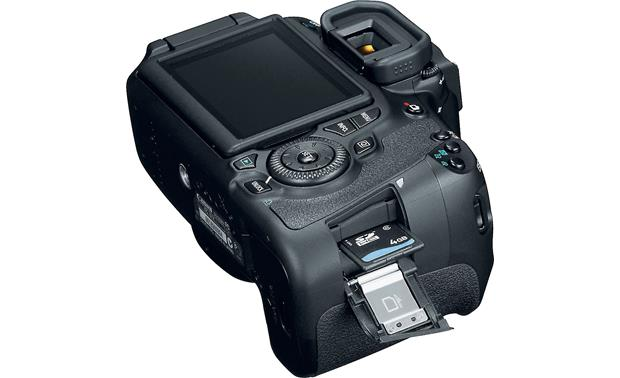 Canon EOS 60D Kit Angled view with memory card door open