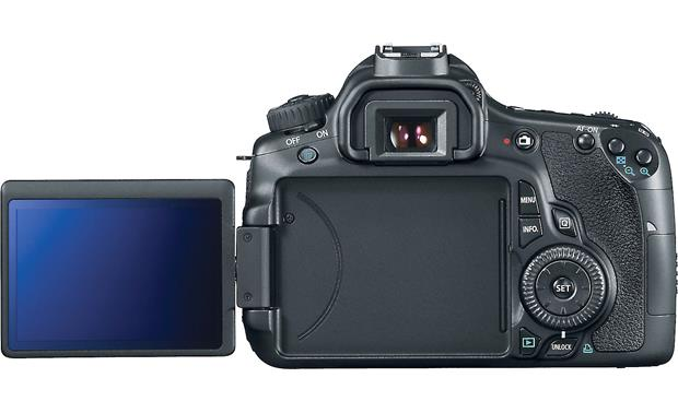 Canon EOS 60D (no lens included) Back (LCD screen swiveled out)