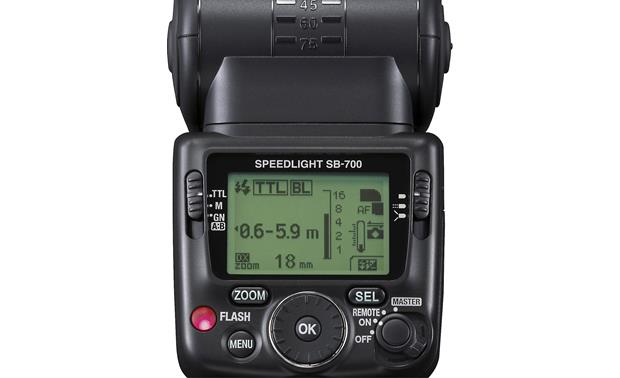 Nikon SB-700 AF Speedlight Back-panel LCD and controls