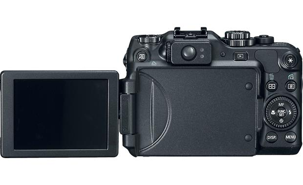 Canon PowerShot G12 Back with LCD screen open