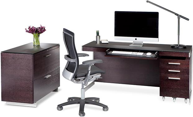BDI Sequel 6016 Espresso, shown with BDI office suite (other furniture, PC, and office supplies not included)