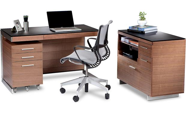 BDI Sequel 6017 Walnut - with BDI Suite (not included)