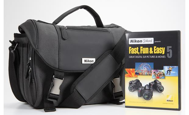 Nikon Digital SLR Starter Kit with Bag & Instructional DVDs Front