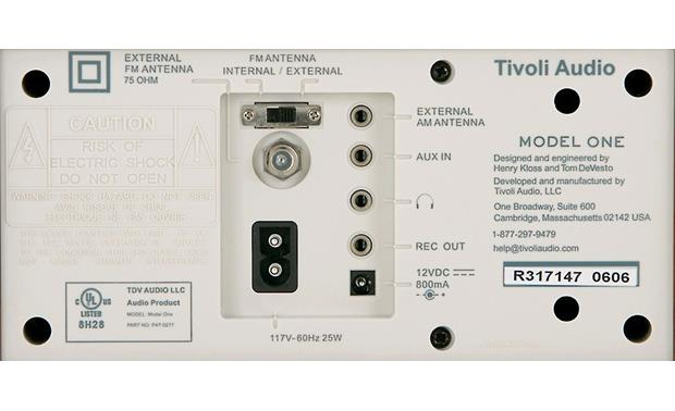 Tivoli Audio Model One Wanlut and blue, back