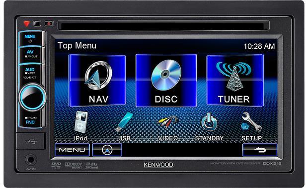 kenwood ddx318 dvd receiver at crutchfield com rh crutchfield com Kenwood USB Mount Accessories Kenwood Car Stereo DVD
