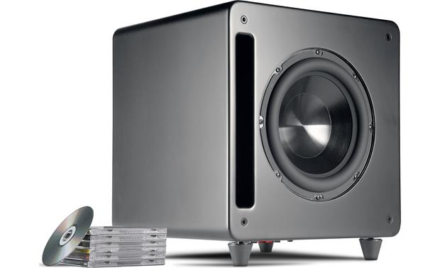 Polk Audio DSW PRO 550wi Shown with feet moved for optional front-firing position