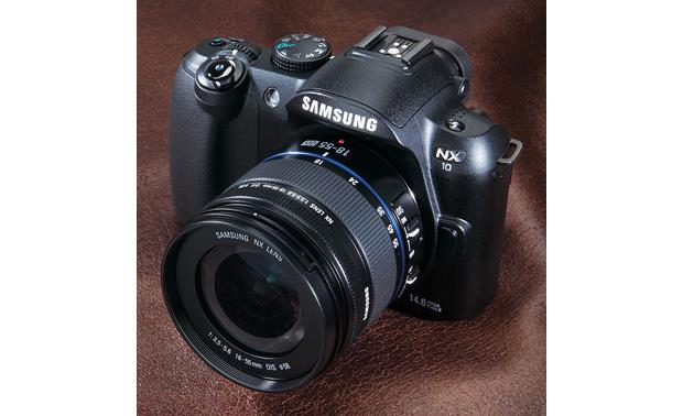 Samsung NX10 Front (with lens hood removed)