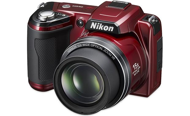 nikon coolpix l110 red 12 1 megapixel digital camera with 15x rh crutchfield com Nikon Coolpix L105 Review Nikon Coolpix L110 Accessories