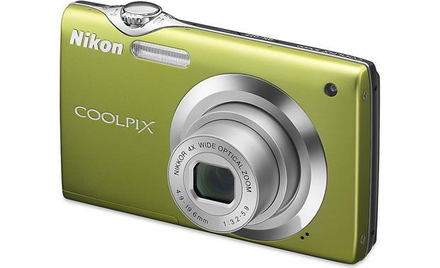 nikon coolpix s3000 green 12 megapixel digital camera with 4x rh crutchfield com