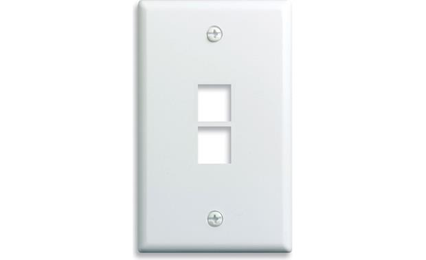 On-Q Single-Gang Wall Plate (White) 2-Port Single-Gang Wall Plate
