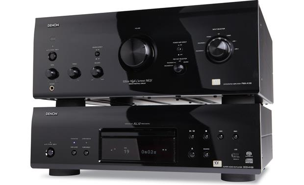 Denon DCD-A100 Shown with matching 100th anniversary integrated amp