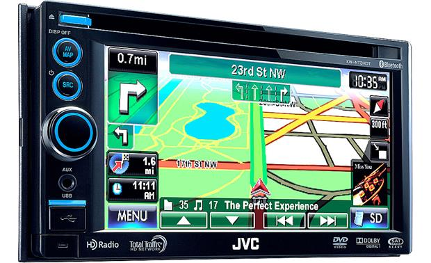 JVC KW-NT3HDT Lane guidance keeps you on track
