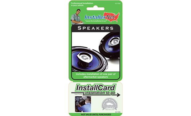 InstallCard: Speakers Front