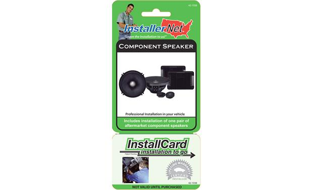 InstallCard: Component Speakers Front