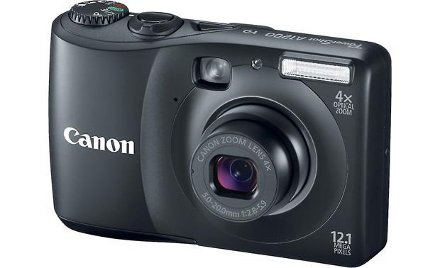 canon powershot a1200 black 12 1 megapixel digital camera with 4x rh crutchfield com Sony Camera Canon PowerShot A1200 Troubleshooting