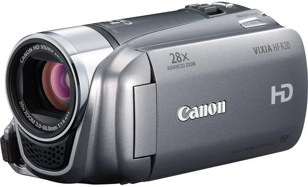 canon vixia hf r20 silver high definition camcorder with 8gb flash rh crutchfield com