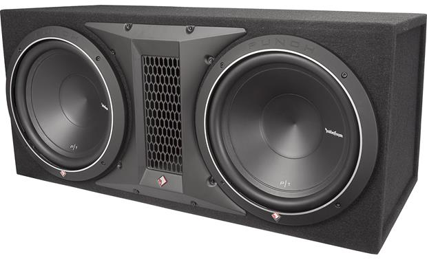 rockford fosgate punch p1 2x10 ported enclosure with two. Black Bedroom Furniture Sets. Home Design Ideas