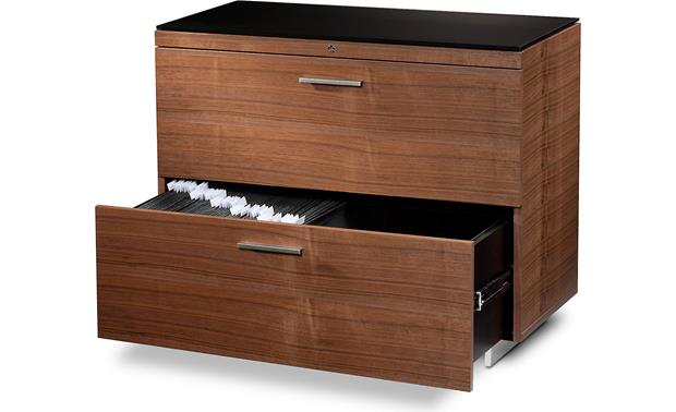 BDI Sequel 6016 Walnut with bottom drawer open