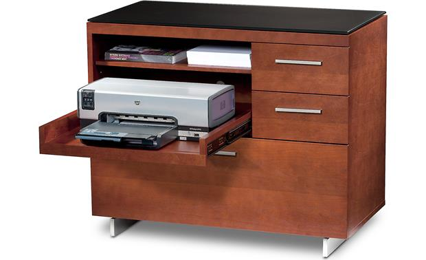 BDI Sequel 6017 Cherry - with printer drawer extended (pirnter and supplies not included)
