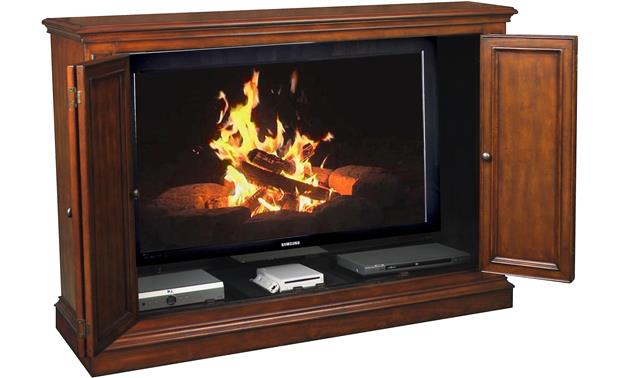UpLift Harbor Green Free Virtual Fireplace DVD included (TV and components not included)