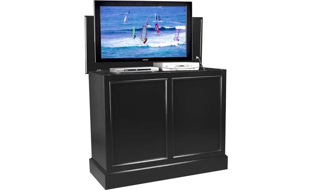 UpLift Universal Cabinet Black finish - (TV and components not included)